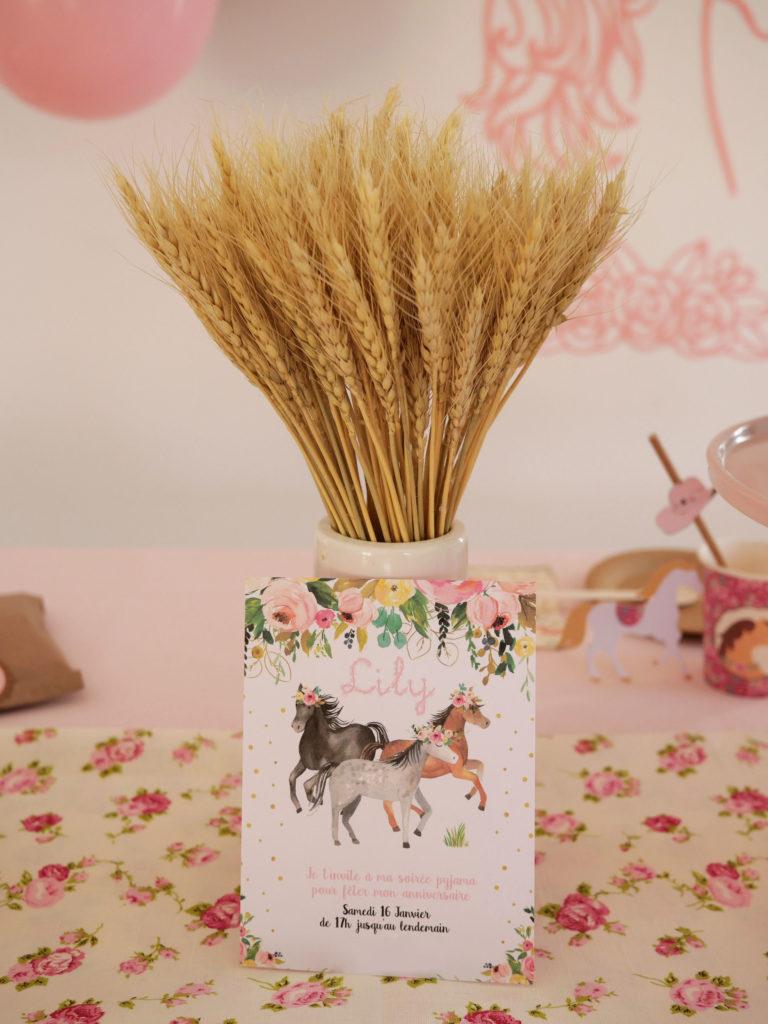 carte anniversaire cheval