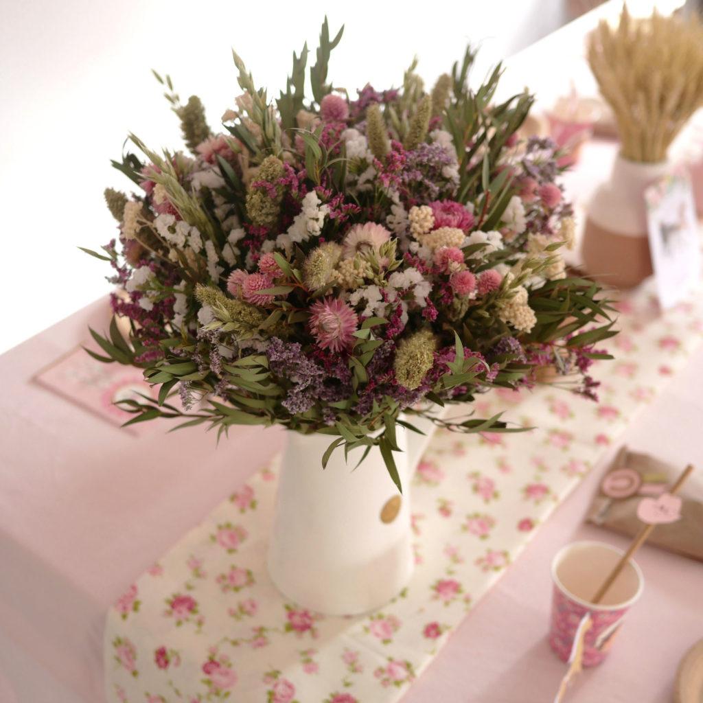fleurs séchées anniversaire