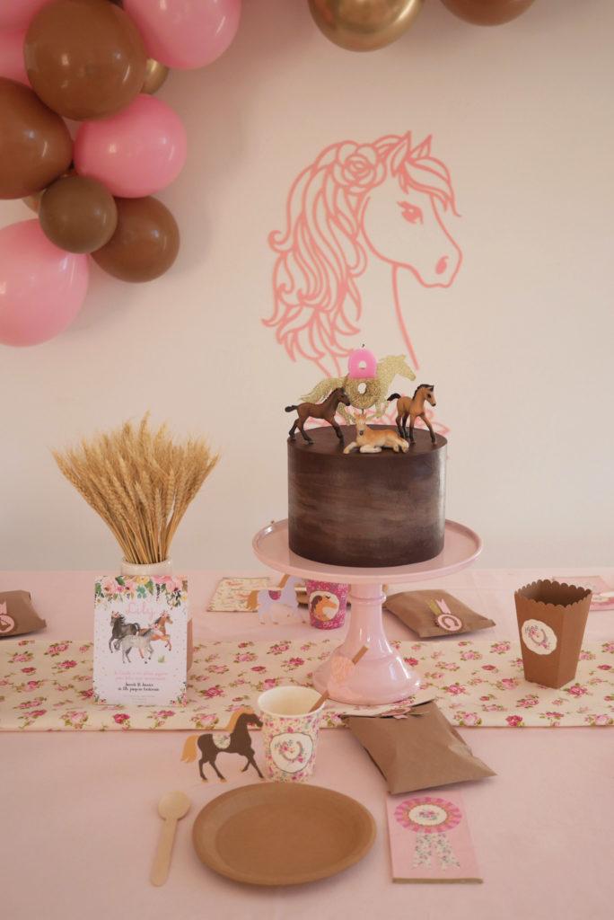 gâteau anniversaire thème cheval