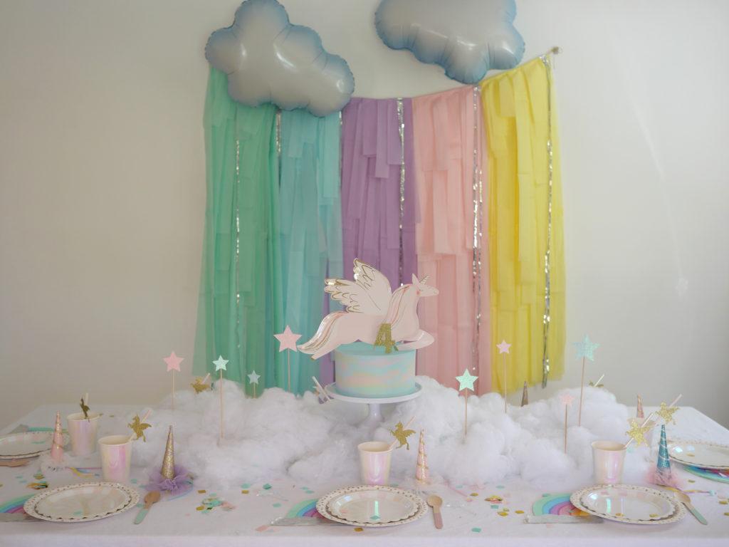 anniversaire table licorne